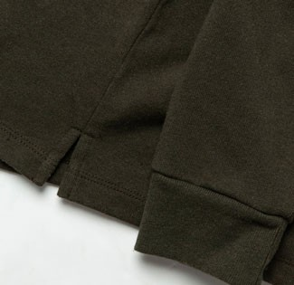 The fabric of Taylor Stitch Rugby Shirt in Cypress