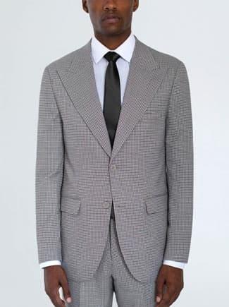 Alain Dupetit wide lapel houndstooth suit