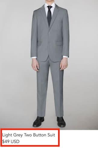 Alain Dupetit Suit for 49 dollars