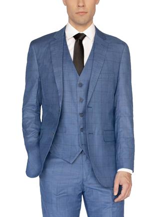 Blue three piece Alain Dupetit Suit