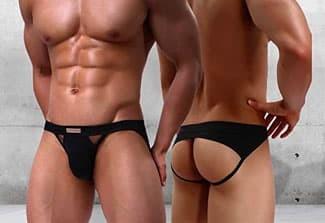 Man wearing jock strap underwear