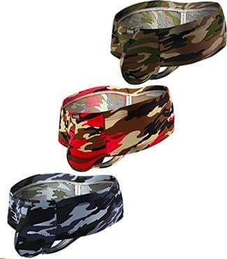 three pairs of iKingsky camo underwear