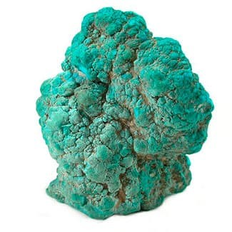 A turquoise rock