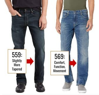 Levis 569 jeans tapering