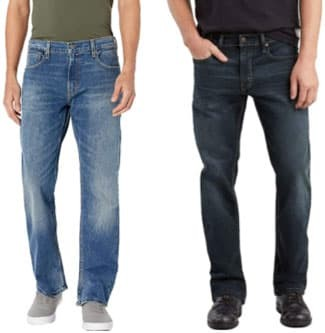 Levis 569 and 559 jeans side by side