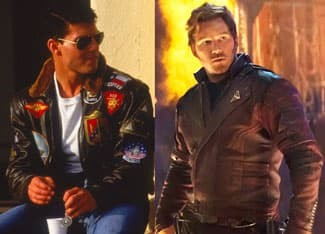 Tom Cruise and Chris Pratt sporting leather jackets