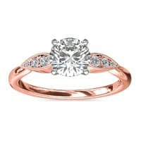 Pear-Shaped Diamond Rose Gold Ring