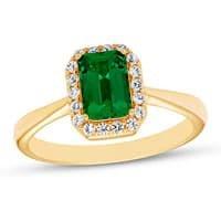 Emerald Ring  in Yellow 10 Kara Gold