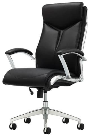 Realspace Bonded Leather High-Back Executive Chair