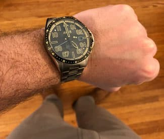 the Jubilee Automatic Limited Edition Reigate from AVI-8 on a man's wrist